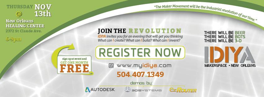 Maker Bayou Invite